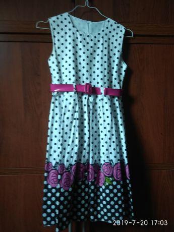 Piękna sukienka z halką rozm. 146