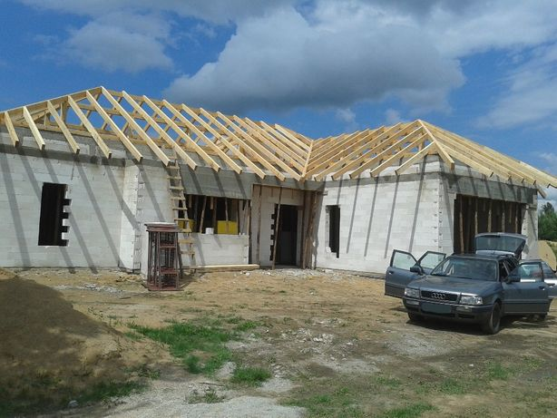 Więźby dachowe, Domy szkieletowe, Dom z bala, Więźba dachowa, Dachy