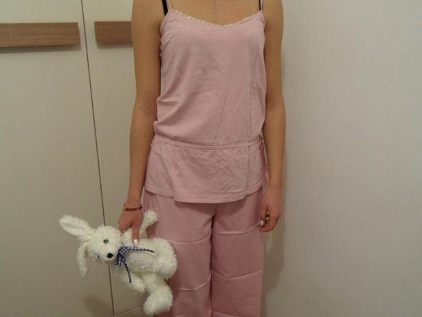 FF hit piżama do spania koszulka spodnie haft 10/36 różowa