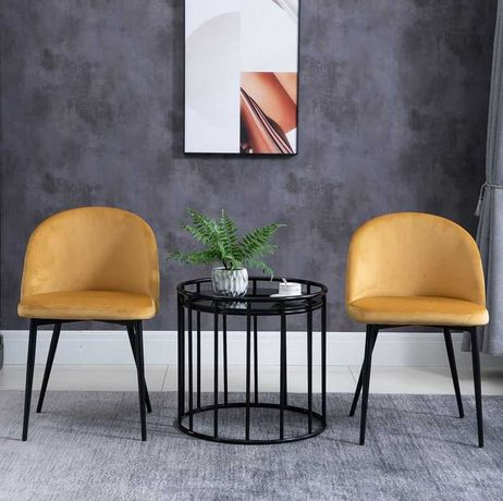 Conjunto 2 Cadeiras de Jantar Estofadas