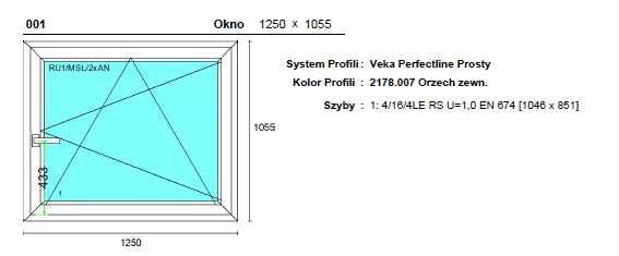 Okno Veka 5-komorowy po demontażu 1250x1055