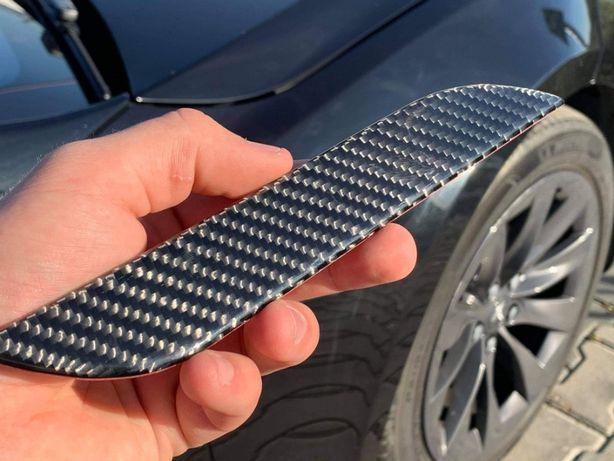 Tesla Model S/X Nakładka Na Klamki Z Prawdziwego Włókna Węglowego