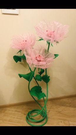 Ростовые цветы органза,гофрабумага, крепбумага. Фотозона