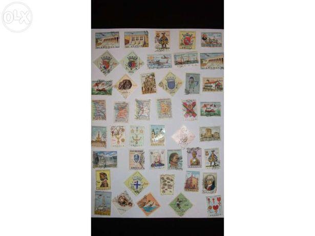 Selos angola lote 44 selos
