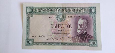 Cem Escudos 1957 Pedro Nunes