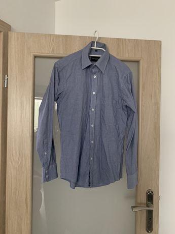 Koszula guziki slim kieszen kolnierz garnitur koszulka