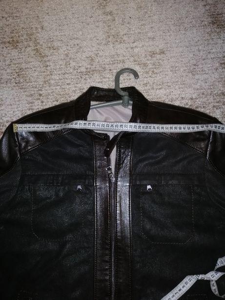 куртка кожанная мужская р 52 новая турция