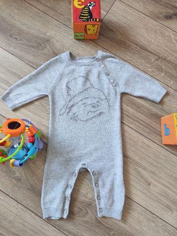 Человечек на малыша 3-6 мес. Машинная вязка, 100% котон.