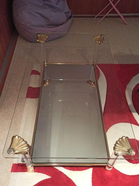 Ława, szklany stół
