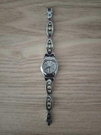 Relógio Swatch caixa metálica redonda