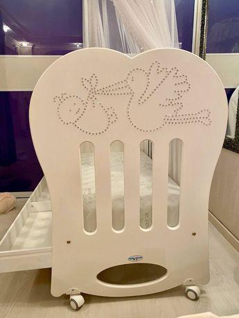Продам итальянскую детскую кроватку Baby Italia CRYSTAL белая (CRYSTAL