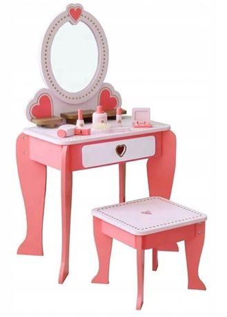 Drewniana Toaletka z akcesoriami dla dziewczynki