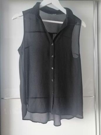 Czarna bluzka mgiełka h&m