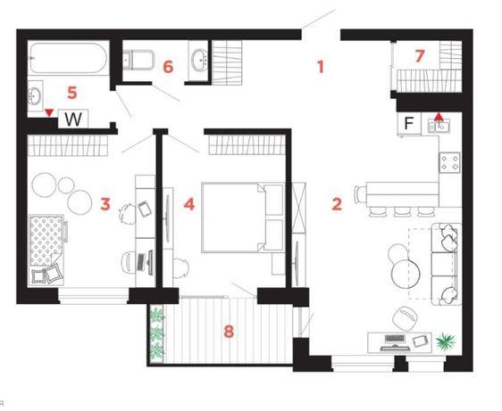 Продам квартиру кухня-студія плюс дві окремі кімнати_Н