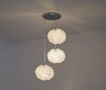 Lampa sufitowa, żyrandol Happy , 3 białe kule