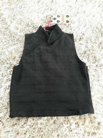 Nowy crop top bluzka czarna bandazowa boohoo xs 34