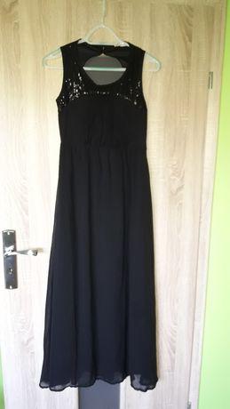 Elegancka czarna suknia rozmiar S