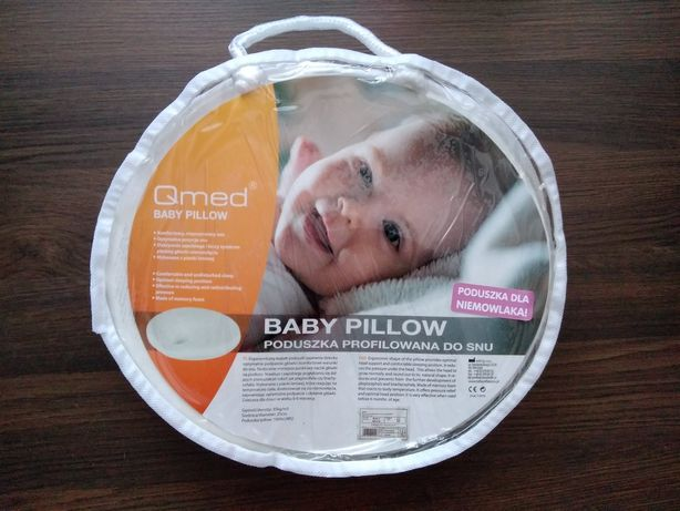 Poduszka Qmed na płaską główkę dla niemowlaka