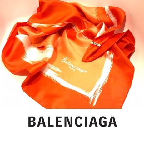 Balenciaga autentyczny szal 100% jedwab