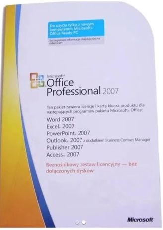 Microsoft Office 2007 Professional - bezterminowy - windows 10