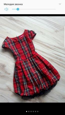 Школьное платье,платье в клетку 11-12л