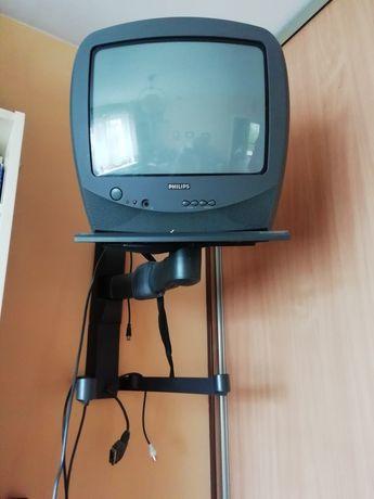 Telewizor Philips 14 cali + wieszak na ścianę