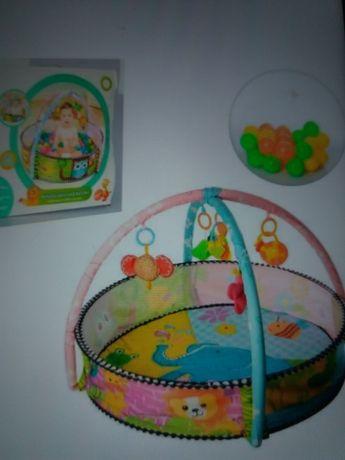 Развивающий коврик бассейн с шариками манеж детский