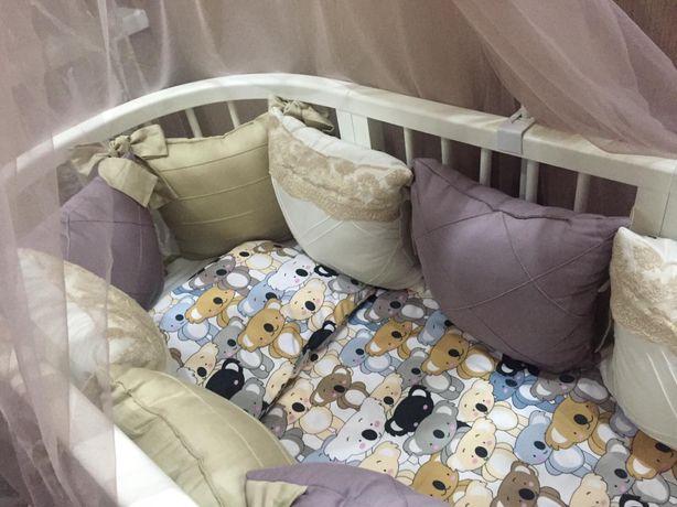 Детская кроватка ANV+ , кроватка трансформер 9в1 + подарок!