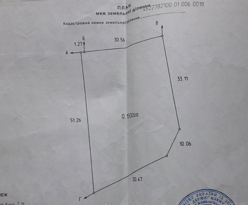 Продаж землі Глинськ (3 км до Жовкви)