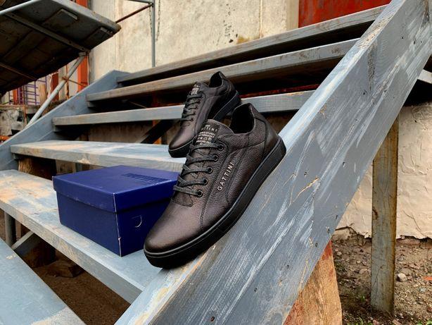 Мужские кожаные кроссовки туфли Gattini (2 модели) Натуральная кожа!
