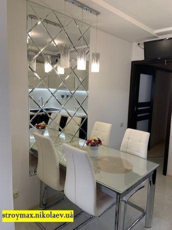 Зеркало на стену (панно) 100*200 см серебро фацет 10 мм