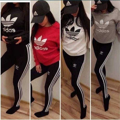 Zestaw damski dres bluza dresowa spodnie komplet Adidas s m l xl xxl