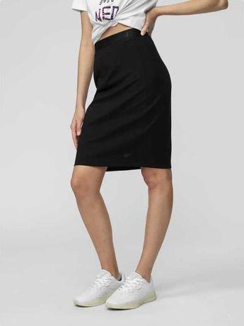 4F Nowa spódnica S/M sportowa czarna dzianinowa legginsy bluza