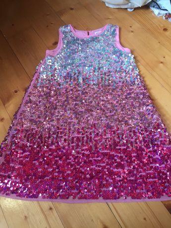 Sukienka z cekinami h&m rozmiar 140