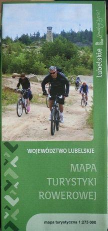 Mapa turystyki rowerowej woj. lubelskiego.Stan idealny.
