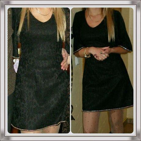 Платье нарядное коктейльное. кружево р.42-44 черное