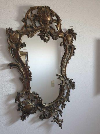 Espelho vintage dourado