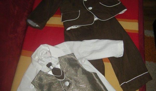 Super garnitur garniturek RETRO 6części chrzest