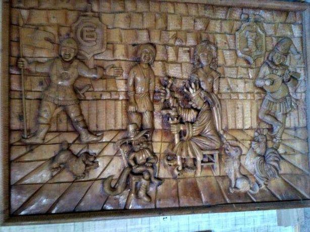 Резная картина деревянная 215*150 торг