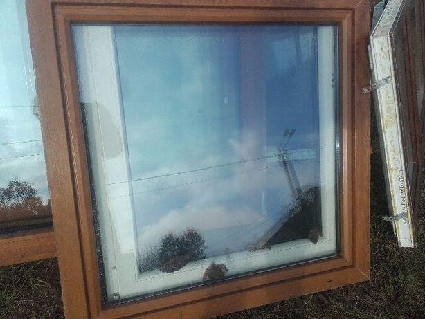 Okno PCV z demontażu o wymiarach 1130 na 1160