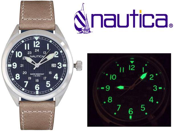 Новий Nautica NAPBTP002 100м якісний наручний годинник / часы