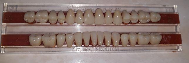 Sztuczne zęby do wykonania protezy