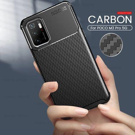 Capa T/ Fibra Carbono Poco F3 / Poco F3 Pró -Nova-24h