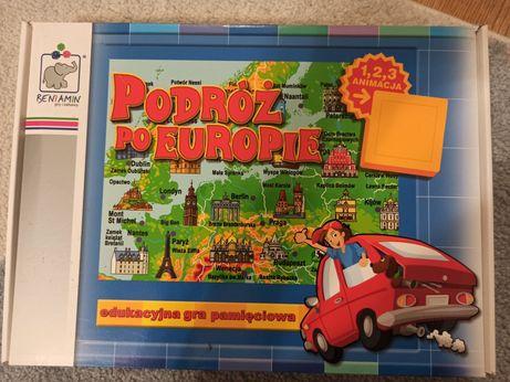 Gra pamięciowa podróż po Europie