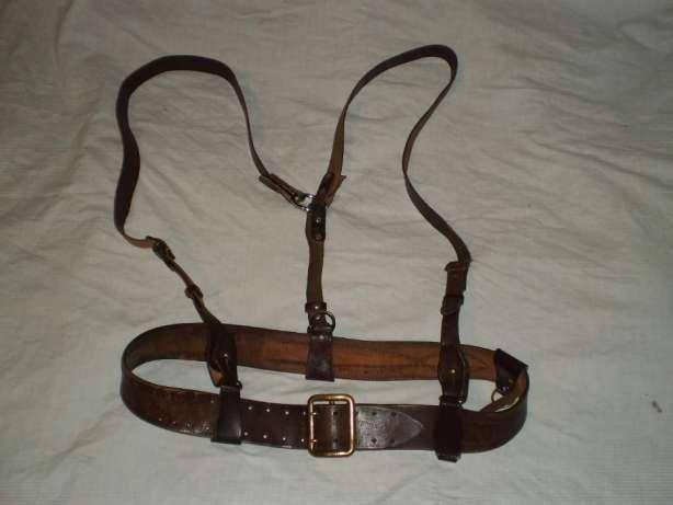 Казачьи новые портупеи на два плеча, соединение сзади коричневого цвет