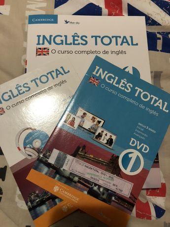 """Livro """"Inglês Total"""" + CD + DVD NOVO"""