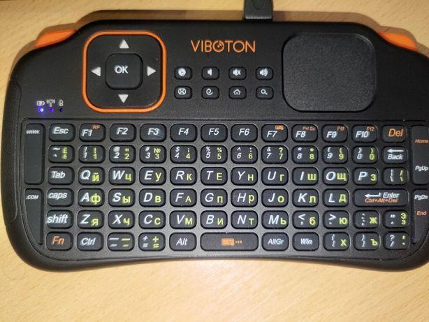Беспроводная клавиатура VIBOTON S1 на англ. и рус. языках 2,4 ГГц