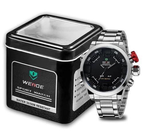 PRESTIŻOWY męski zegarek DUAL TIME - NOWY !!!