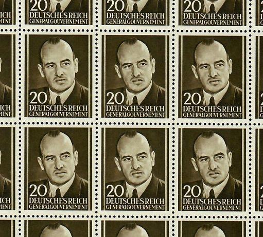 ARKUSZ ZnaczkA Fi AII ** - Hans Frank - MUZEALNY WALOR - znaczki GG