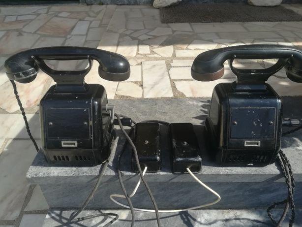 ANO 1950 - ANTIGUIDADES - 2 TELEFONES Com Campainha e Manivela